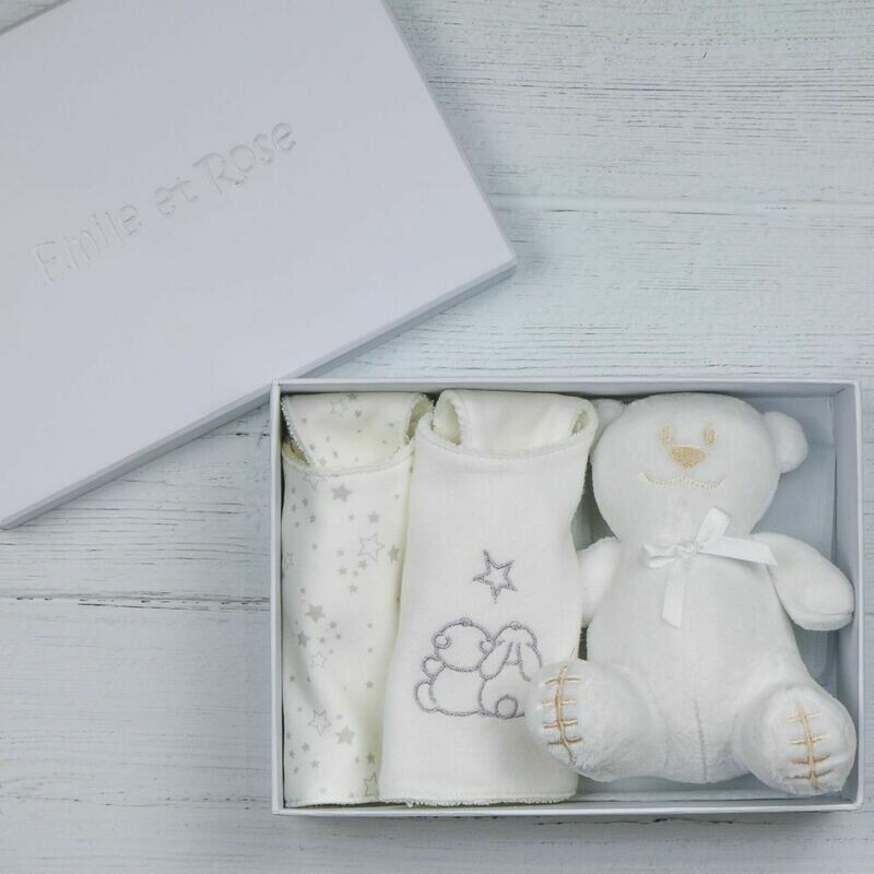 EMILE ET ROSE  White Gift Box Set  Trenton