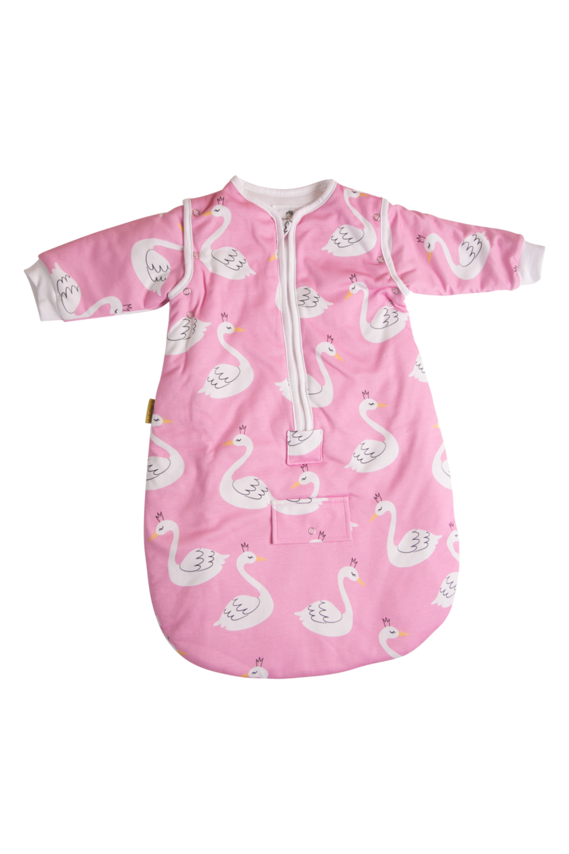 Babyboo PINK SWANS ORGANIC COTTON SNUGGLEBOO SLEEPING BAG (2.5 TOG