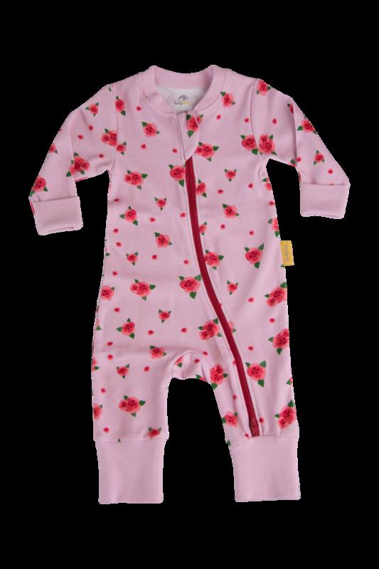 Babyboo ROSES ORGANIC COTTON ZIPPYBOO SUIT