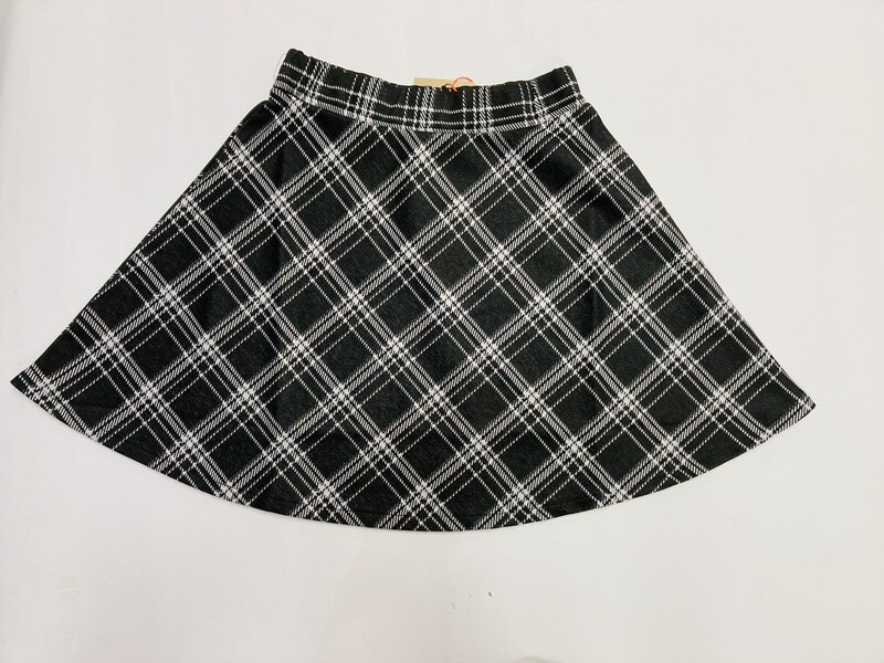 Blue Seven Teen Girl Check Skirt