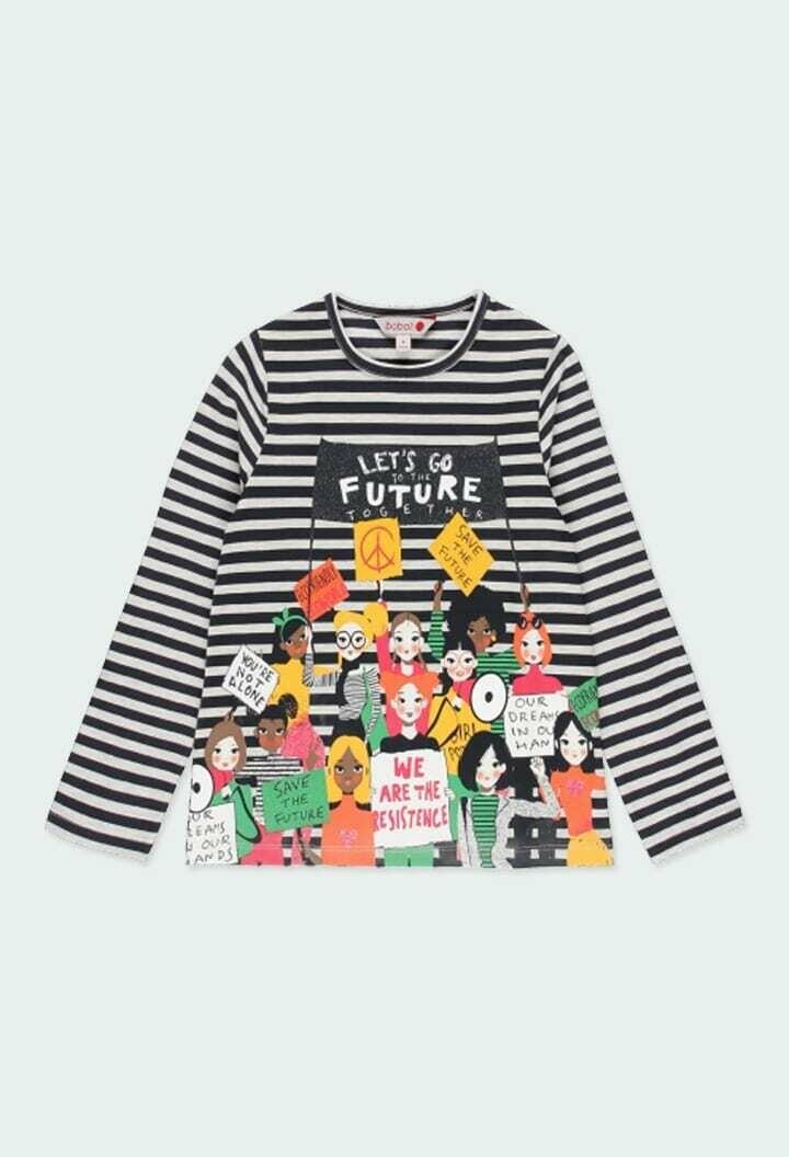 Boboli Girls t-Shirt striped Long sleeved for girl