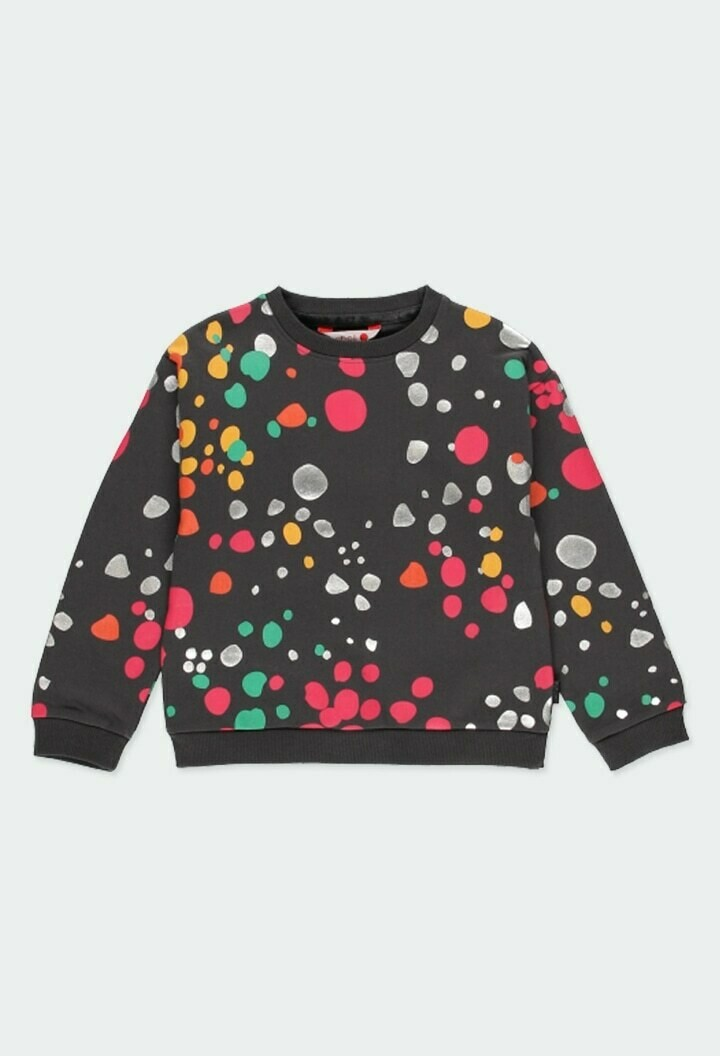 Boboli Girls Fleece sweatshirt polka dot