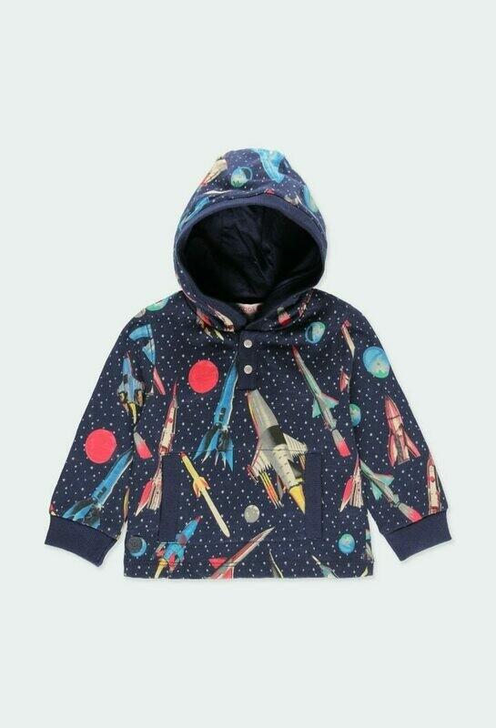 Boboli  Boy Hood Rockets Fleece sweatshirt