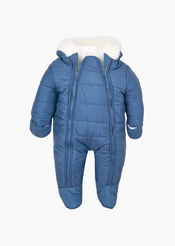 Losan Baby Boy Quilted onesie with spotty print.