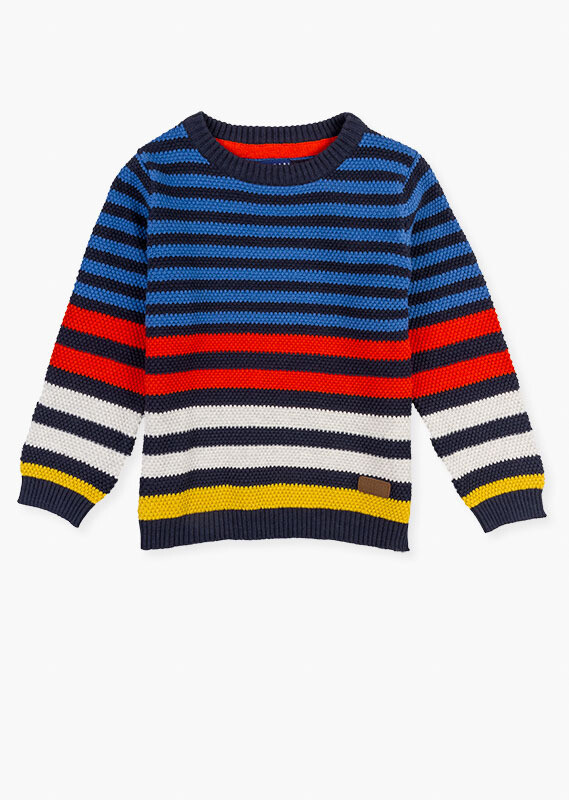 Losan Boys Stripy knit sweater.