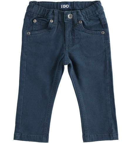 iDO Boys Twill Trouser in Navy