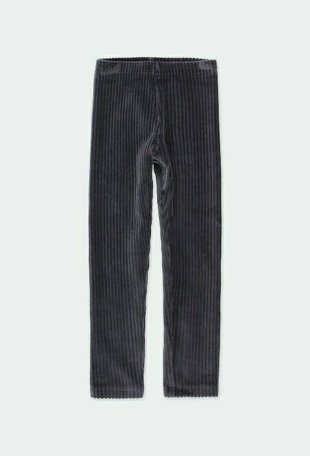 Boboli Cord Knit Leggings GREY