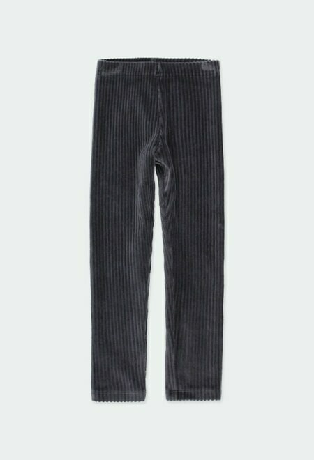 Boboli Cord Knit Leggings GREY