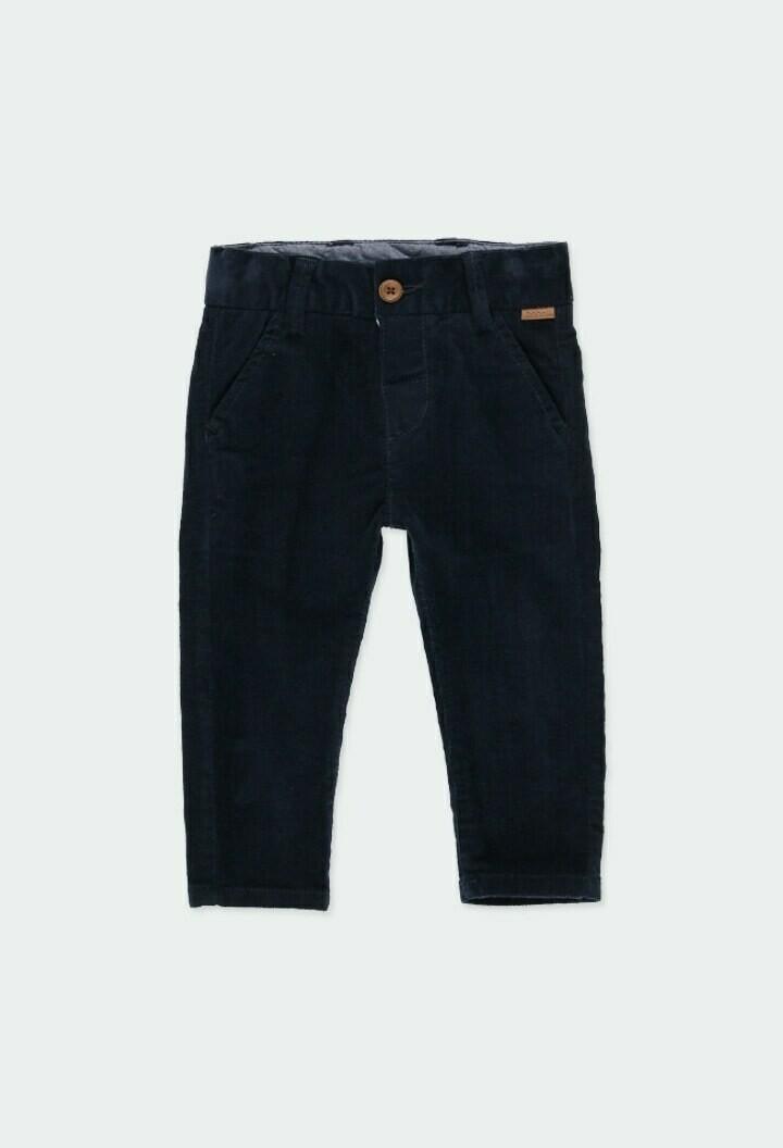 Boboli Baby Boy Microcorduroy trousers stretch in Navy