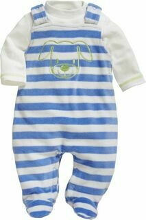 Baby 2 piece Blue Stripe Romper and Top