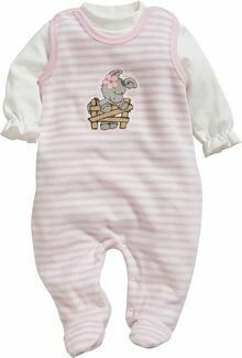 Baby 2 piece Pink  Stripe Romper and Top