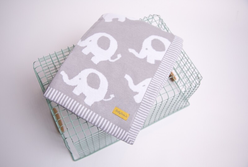 BabyBoo ORGANIC COTTON GREY ELLIE ELEPHANT BLANKIEBOO