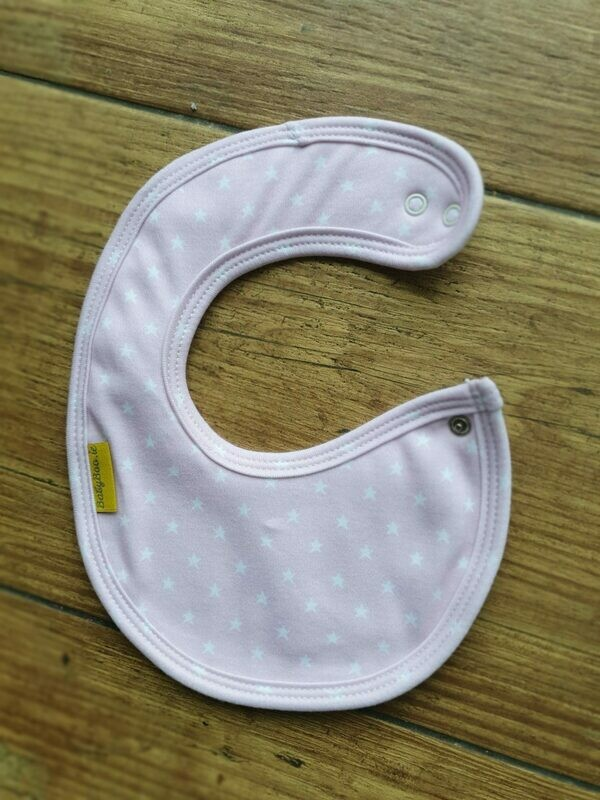 Baby Boo Newborn Mini LIGHT PINK STARS ORGANIC COTTON LITTLEBOO BABY BIB