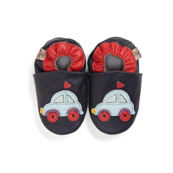 Shoobees Navy Car Baby Shoes