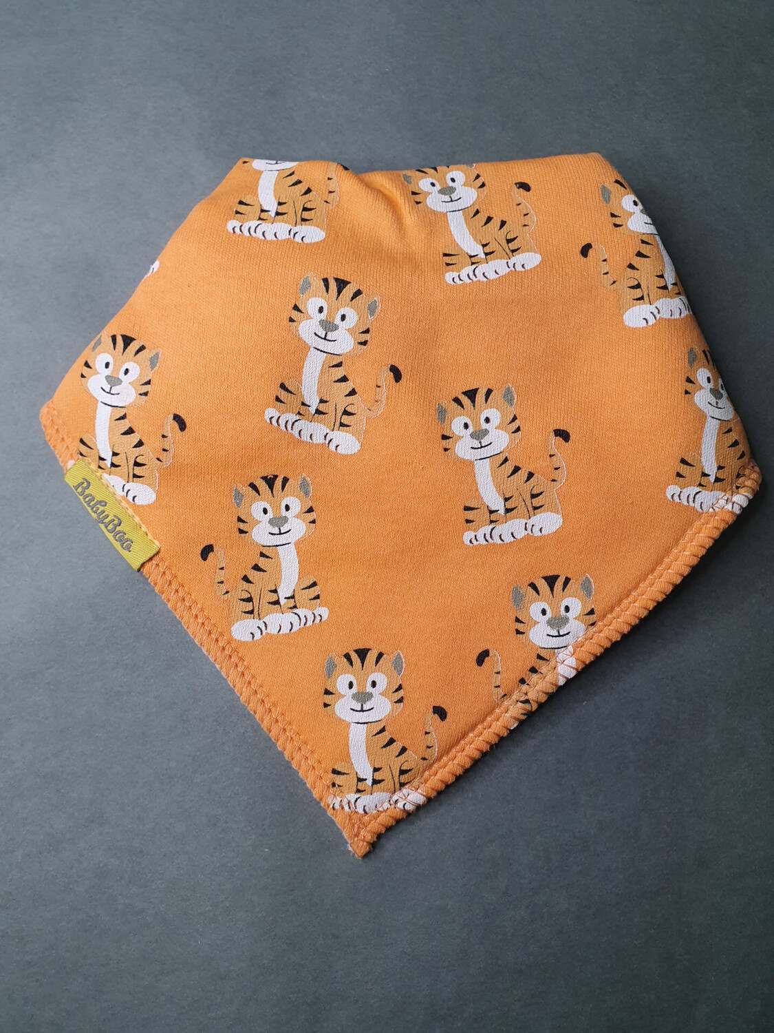 Babyboo  Cheeky Tigers Organic Cotton Bib