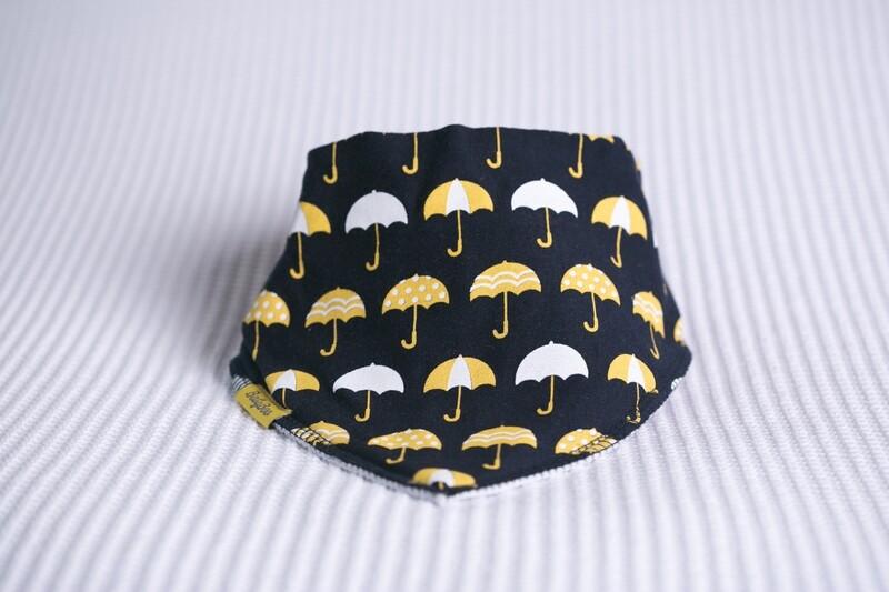 Babyboo  Navy Umbrellas Organic Cotton Bib
