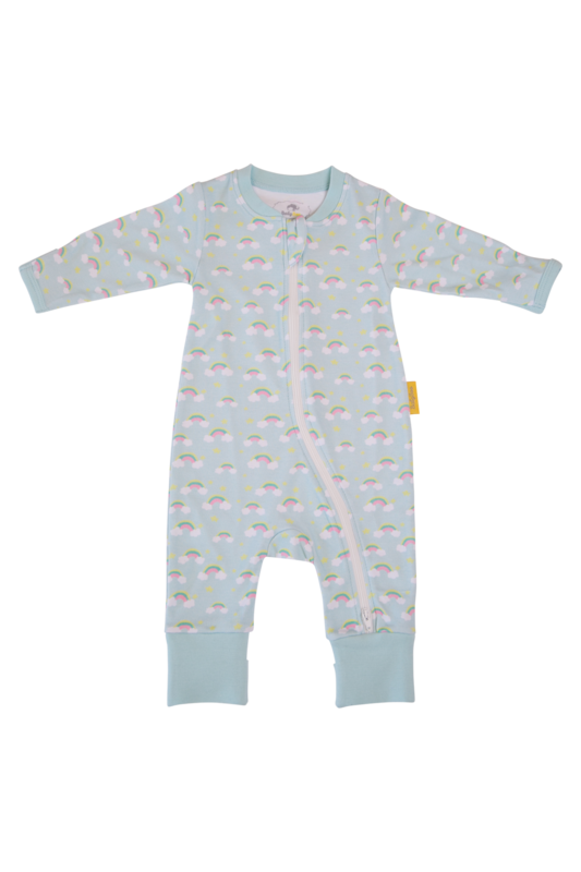 Babyboo PAINTED RAINBOWS ORGANIC COTTON ZIPPYBOO SUIT