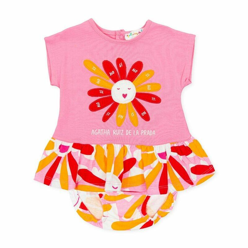 Agatha Ruiz De La Prada Baby Pink Dress Set