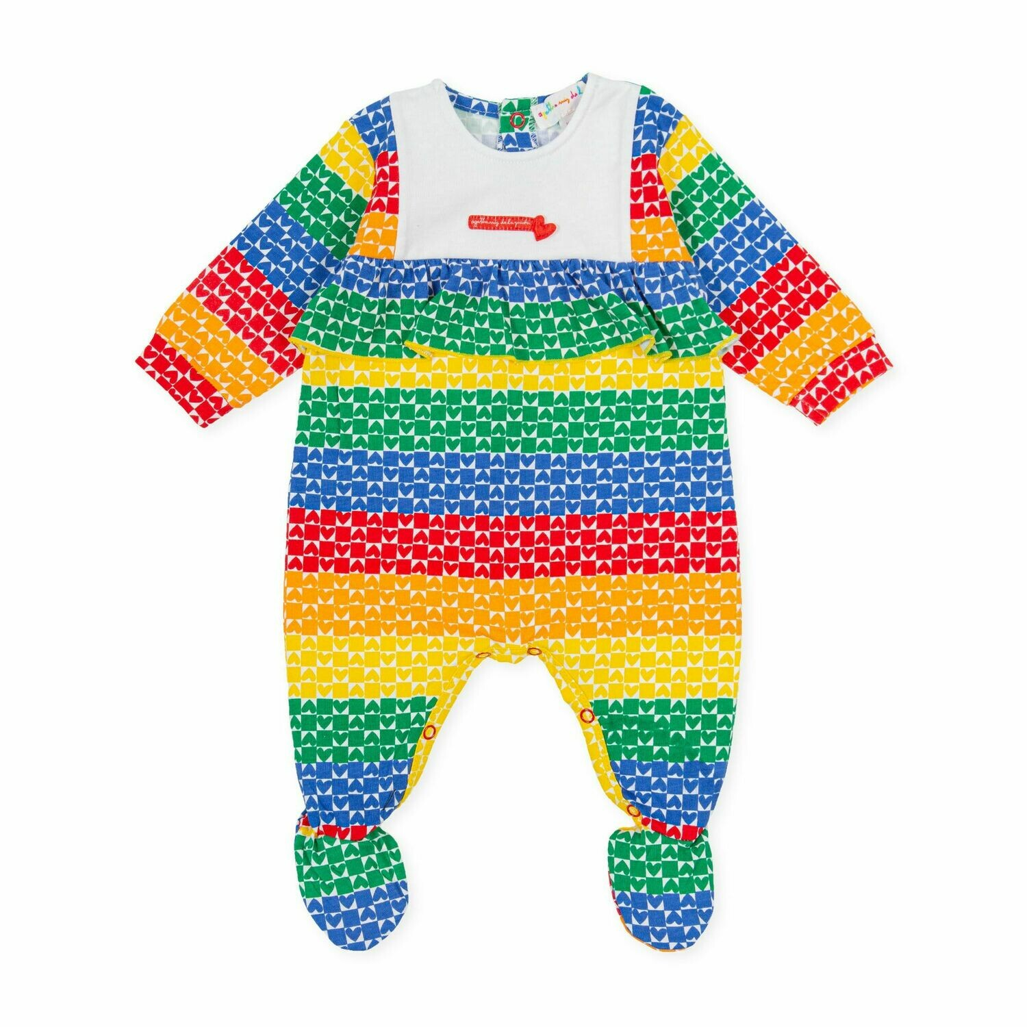 Agatha De La Ruiz Baby Colourful Print All in one Babygro