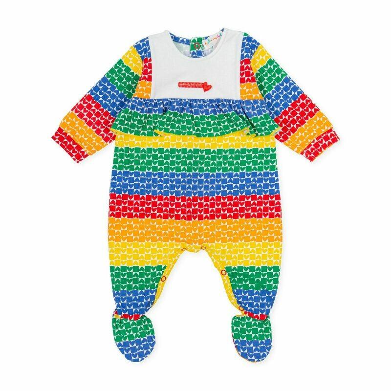 Agatha De La Ruiz Baby Colourful Print All in one Babygro