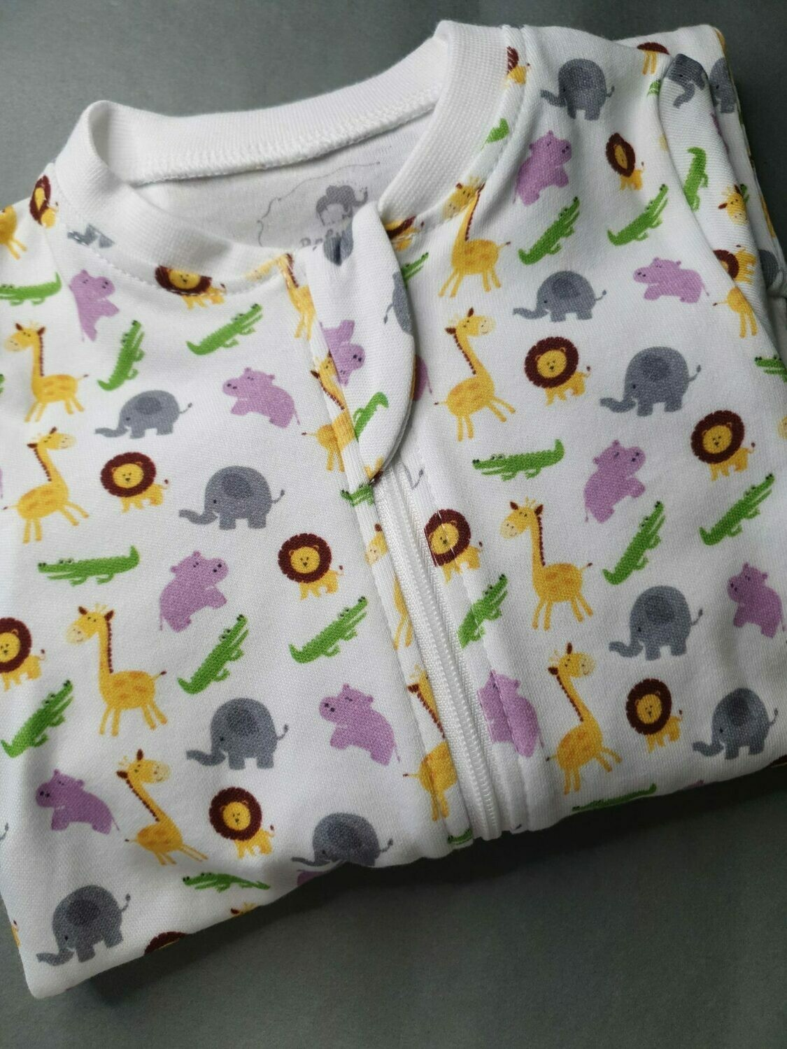 Babyboo IN THE JUNGLE ORGANIC COTTON ZIPPYBOO SUIT