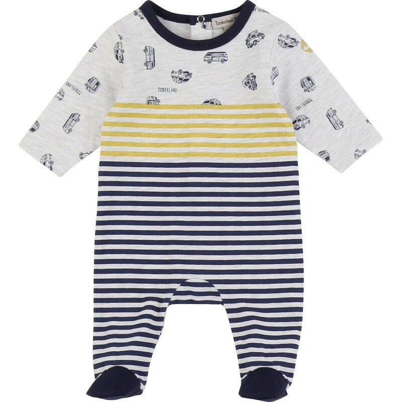 Timberland Babygro, stripe all in one suit