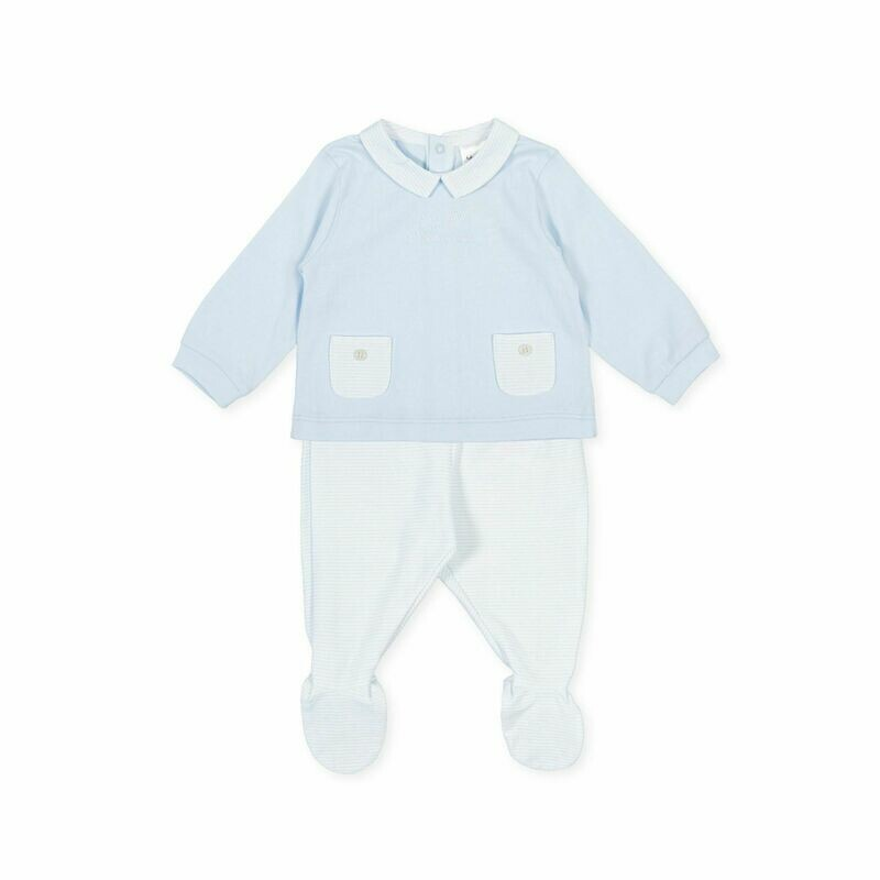 Tutto Piccolo Baby Boy Pale Blue  Two Piece with Pockets