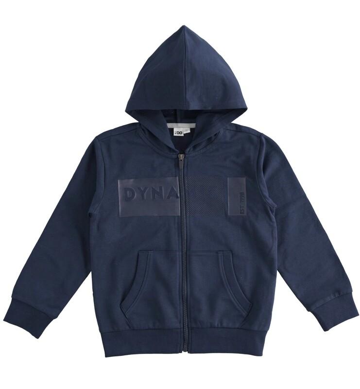 iDO Boys Sweatshirt in Navy with zip and hood