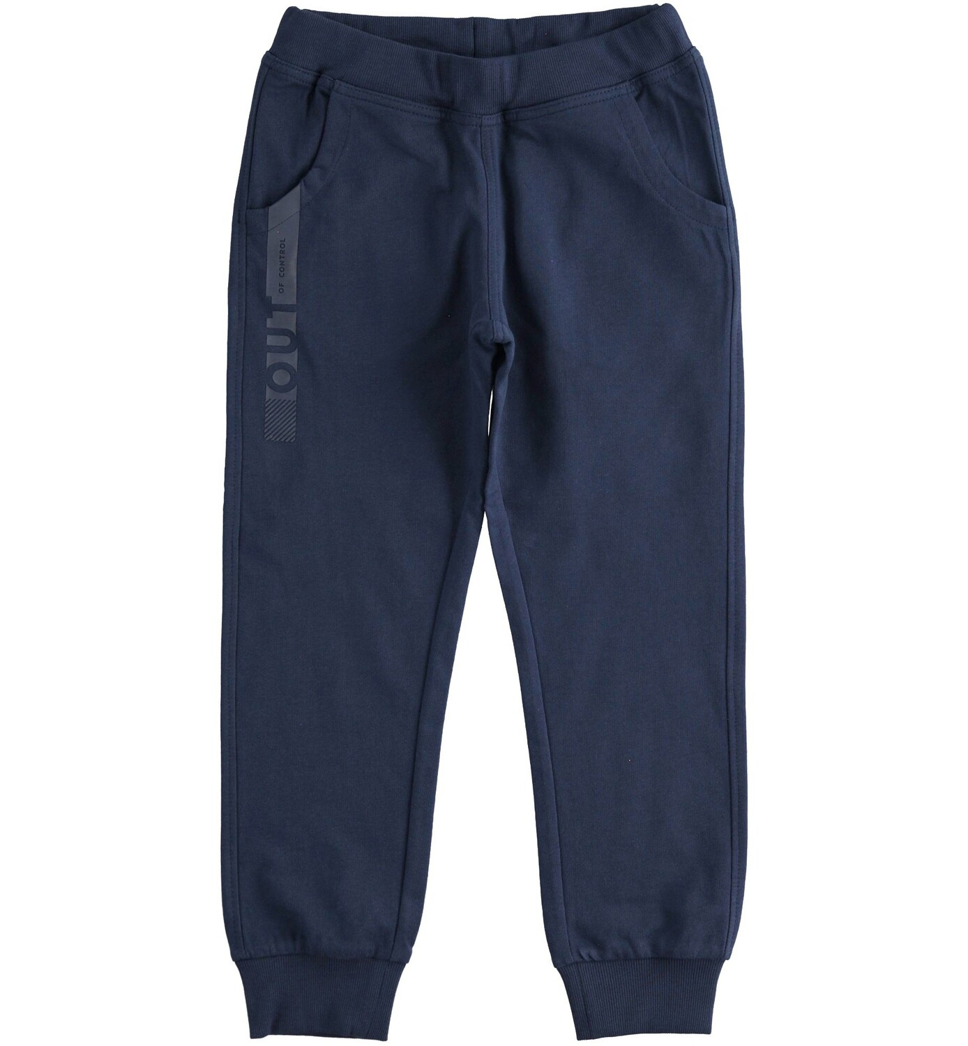 iDO Boys Navy Sporty long trousers in cotton fleece