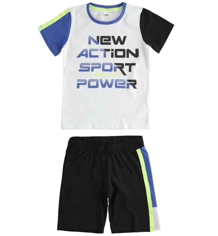 iDO Boys Summer Shorts Shorts Set White /navy
