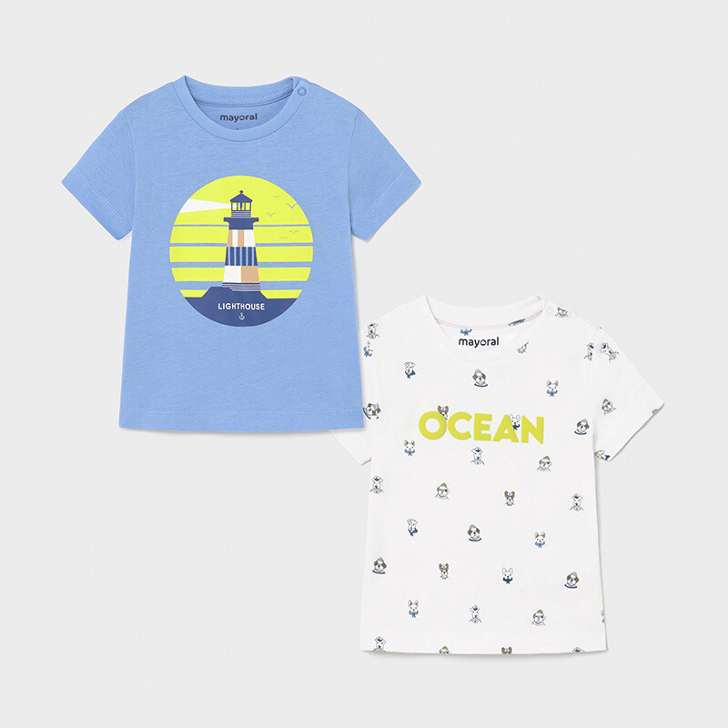 Mayoral Baby Boys two pack Tee shirts Blue