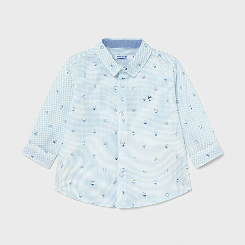 Mayoral Baby Boy Print shirt Blue