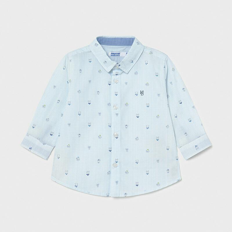 Mayoral Baby Boy Print shirt Blue