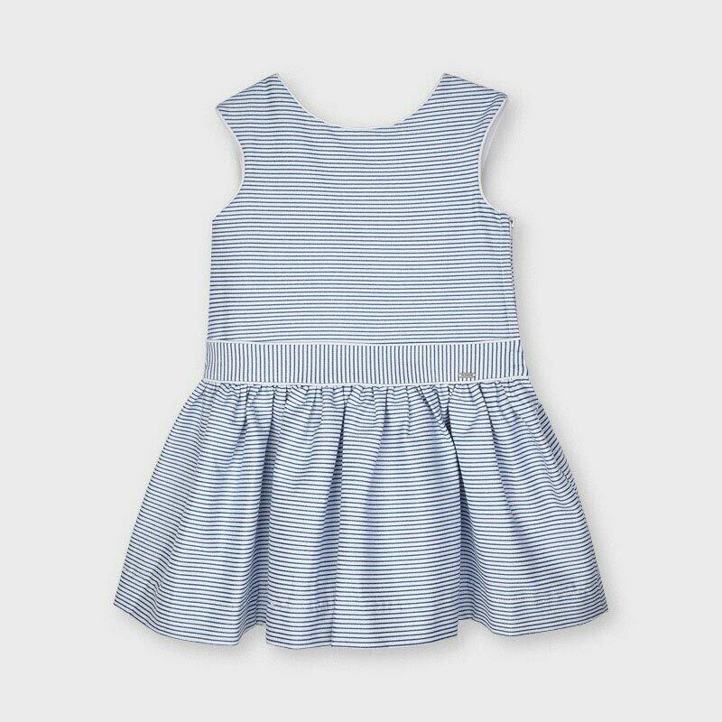 Mayoral Girls Striped Blue lurex dress