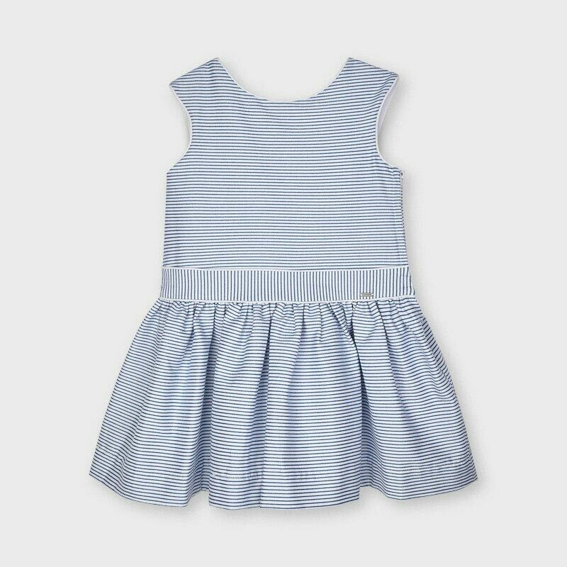 Mayoral Girls Striped Blue lurex dress