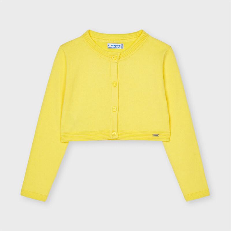 Mayoral Girls ECOFRIENDS  cardigan Lemon