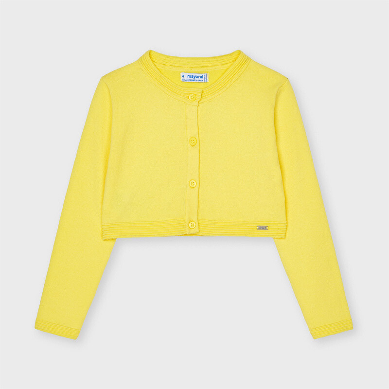 Mayoral Girls ECOFRIENDS  cardigan Lemon