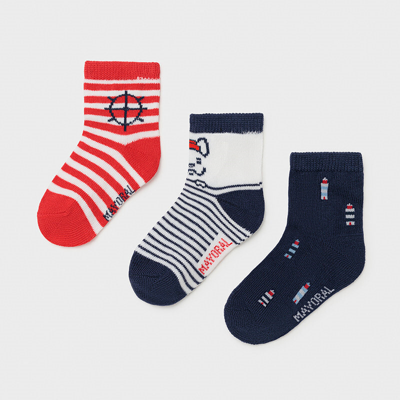 Mayoral Baby Boy Set of 3 fantasy socks