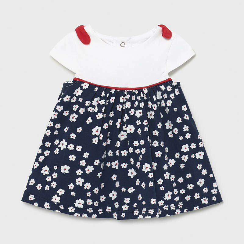 Mayoral Baby Girls Classic Navy /white Dress