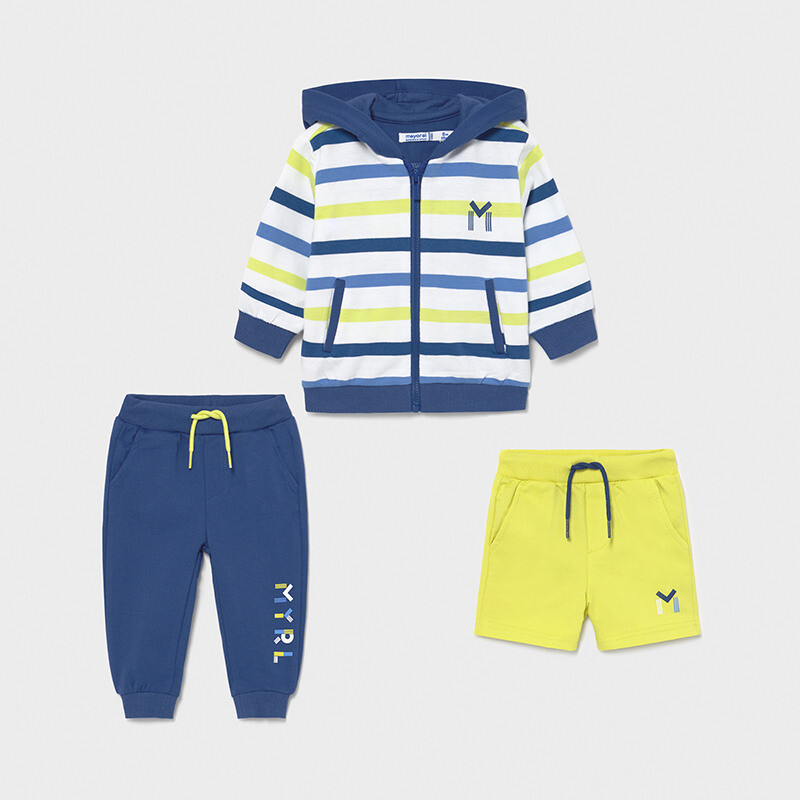 Mayoral Baby Boy 3 piece striped tracksuit set