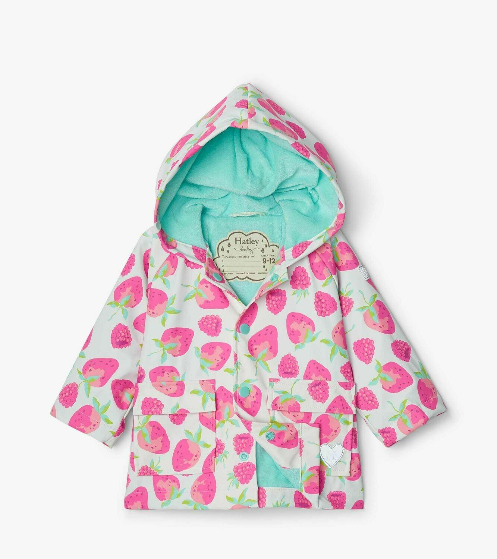 Hatley Delicious Berries Baby GirlsRaincoat