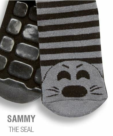 Country Kids Sammy the seal  slipper socks