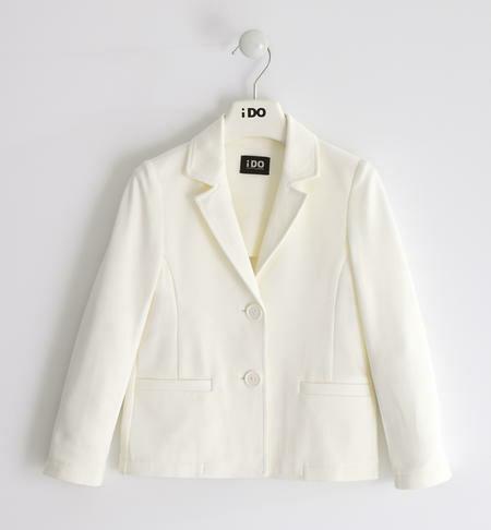 iDO Teen Girl classic Cream blazer of viscose blend Milano stitch