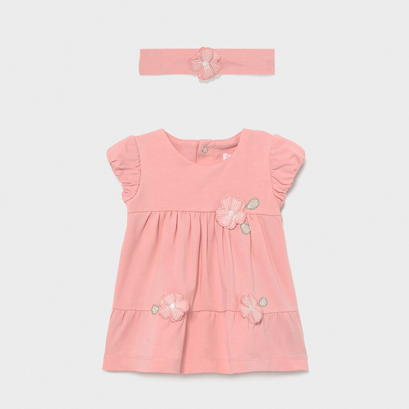 Mayoral Baby Girls pink dress with headband
