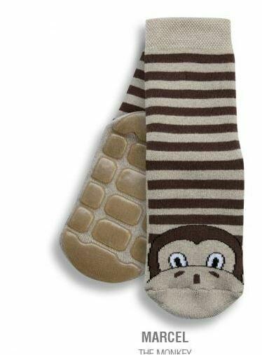 Country Kids Marcel the monkey slipper socks