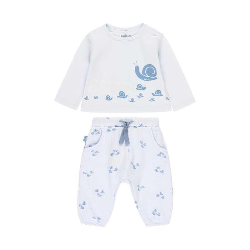Boboli Baby BOYS 2 Piece Blue Set