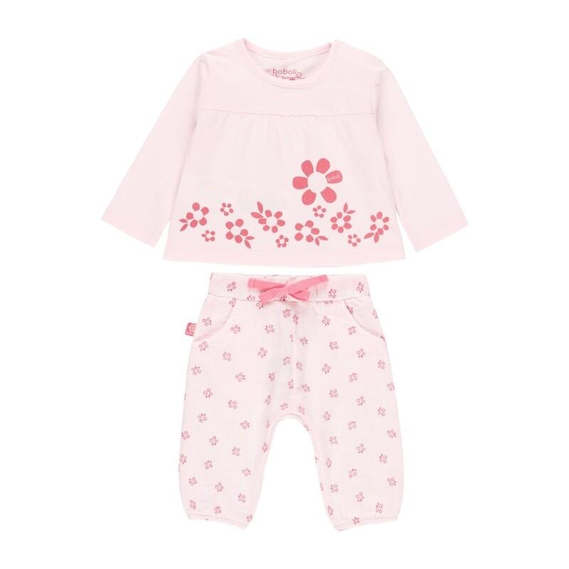 Boboli Baby GIRLS 2 Piece Pink Floral Set