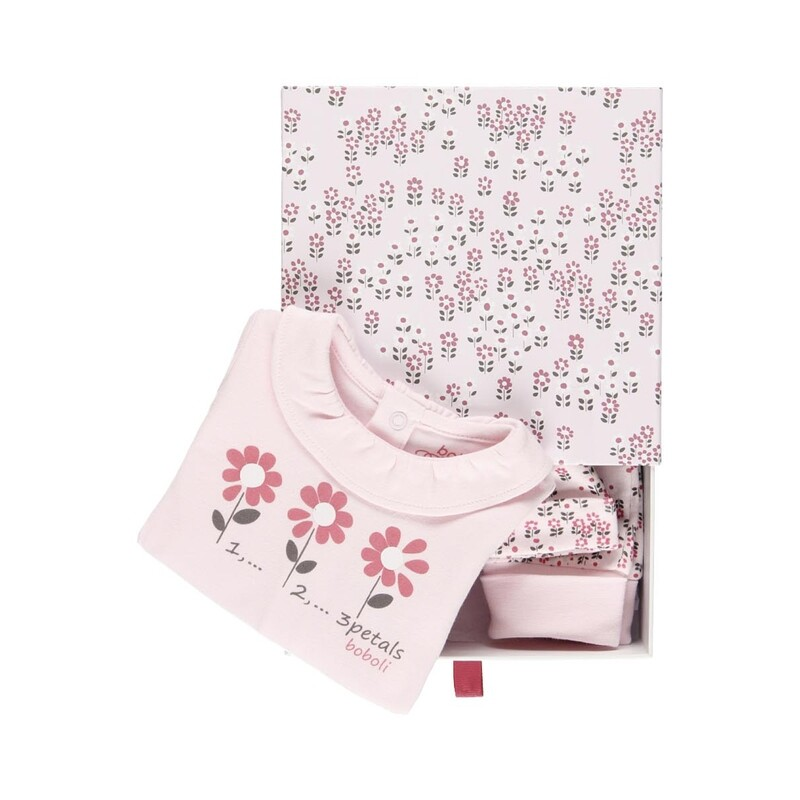 Boboli Baby Girl Pack 3 pieces with gift case for baby girl