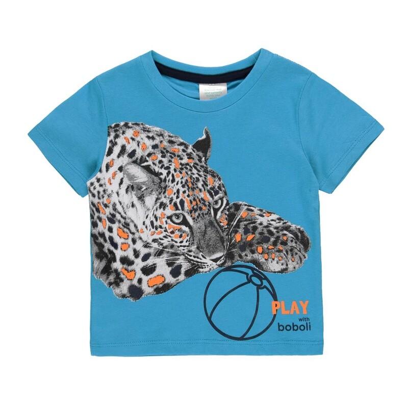 Boboli  Boys Knit t-Shirt Blue