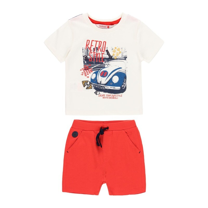 Boboli Boys Shorts Set with Red Shorts